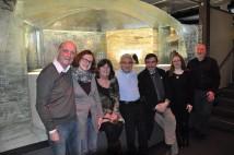 Graham, Karin, Lynn, Brian, Ian, Kari and Larry at Frauenau Glass Museum