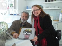 Kari and Erwin Eisch with book