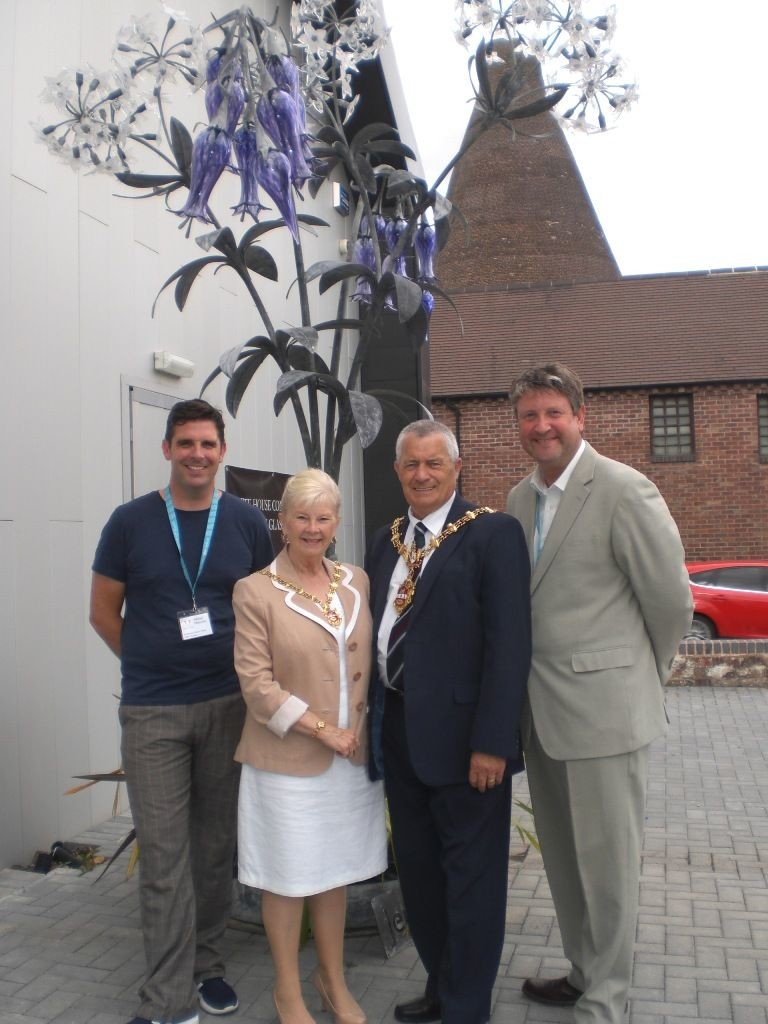 Allister Malcolm and Simon Bruntnell with the Mayor and Mayoress of Dudley