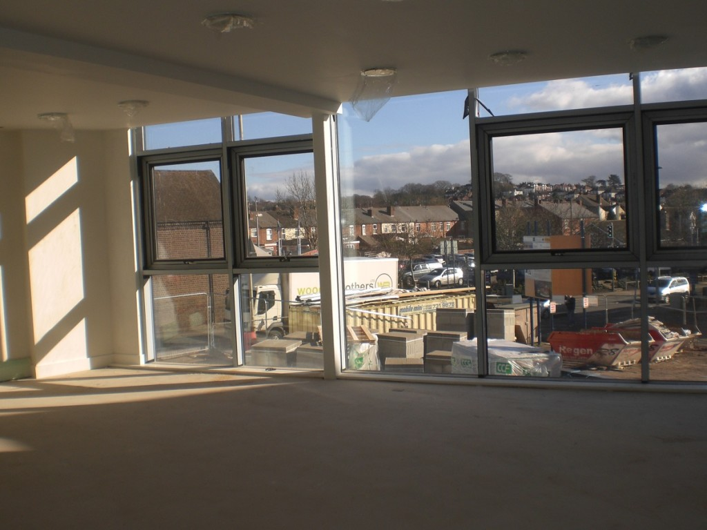 View from New Build WHC to High Street 10.2.16