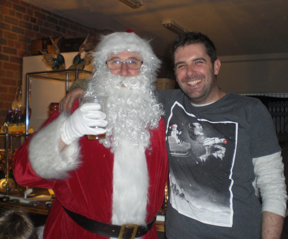 Allister with Santa